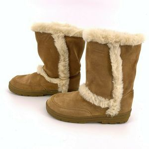 Sonoma Katy Tan Faux Fur Winter Boots Size 9